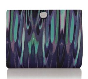 KM oversized printed clutch