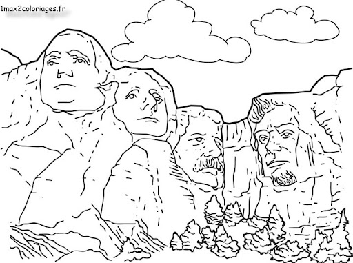 coloring pages of mount rushmore - photo#6