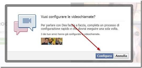 configurare la videochat