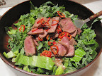Tossed into a salad of romaine and blanched wax beans, this salad was spicy and meaty and delicious! The fattiness of the steak was great with the acidic dressing. --Carla Lalli Music, Deputy Editor