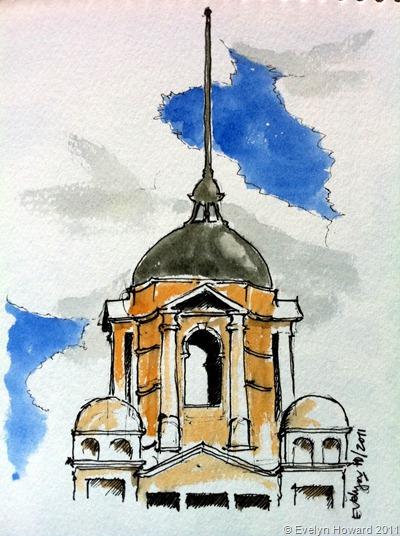 Flinders St Station Sketch © Evelyn Howard 2011