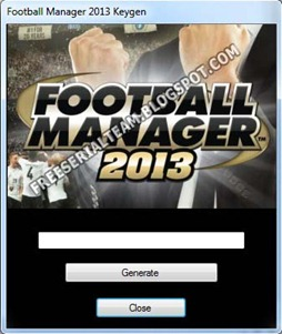 Football Manager 2013 Keygen