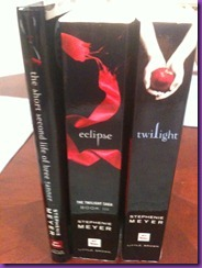 3 books from the Twilight Series