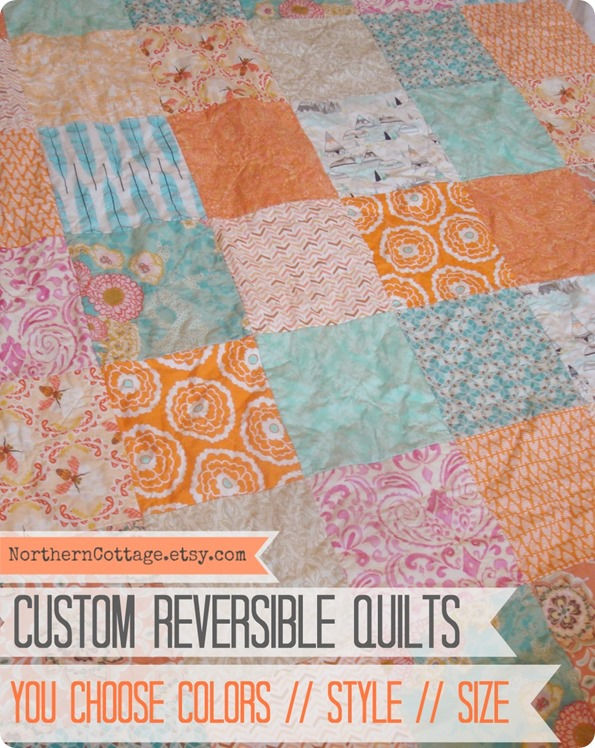 Custom Reversible Quilts {NORTHERN COTTAGE}