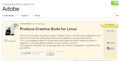 Adobe Creative Suite in Linux