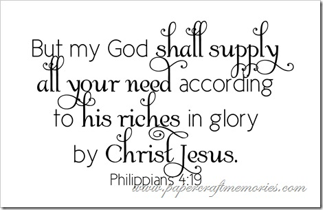 Philippians 4:19 WORDart by Karen for WAW personal use