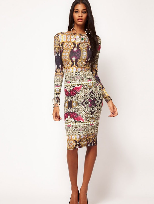 Asos.com , Asos, Asos Dress, Asos Jewel, Jewel Print Dress, Asos Dress, Asos Bodycon Dress, Bodycon Dress, Shopping, Shopping online