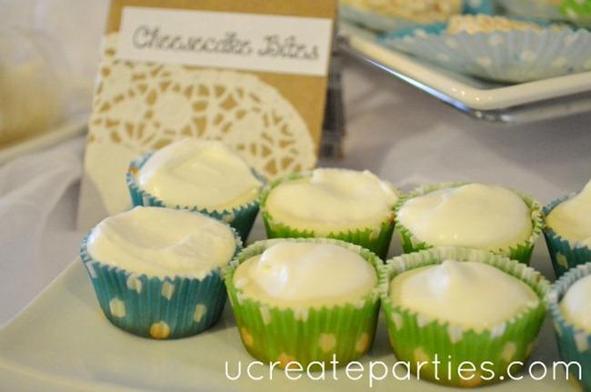 cheesecake bites diy dessert table ideas bridal shower
