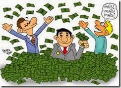 Dinheiro em camara