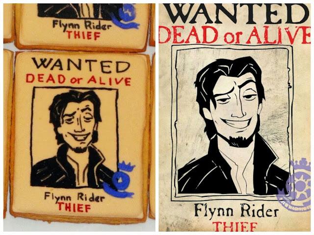 flynn rider poster cookies