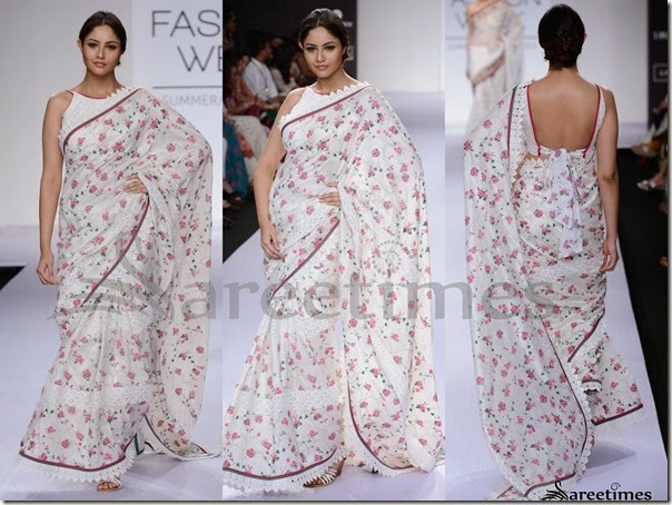 Shruti_Sancheti_White_Printed_Saree