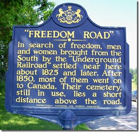 """Freedom Road"" marker near Stoneboro, PA"