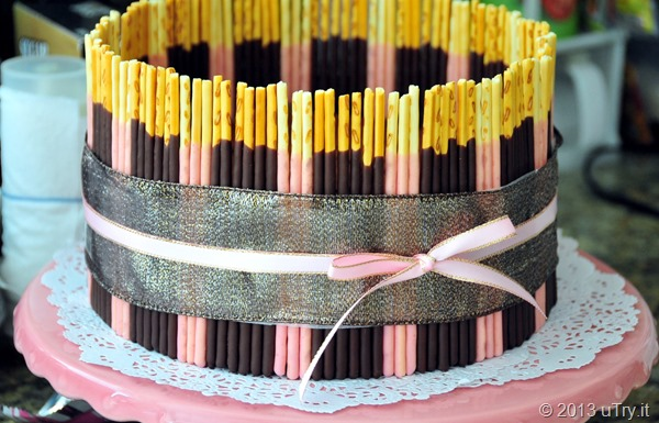 Pocky Chocolate Mousse Cake