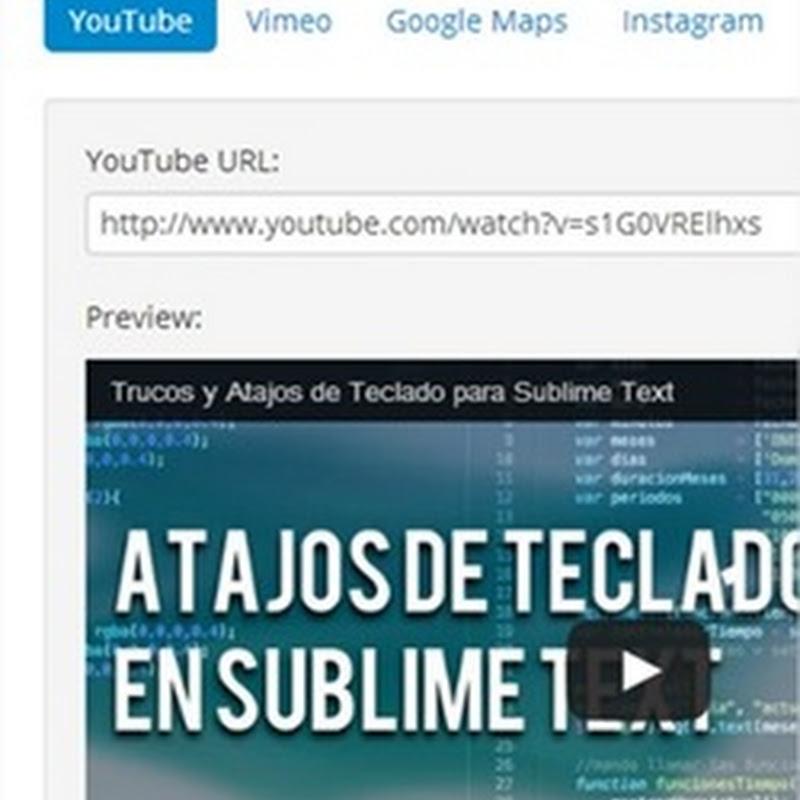 Embed Responsively, sitio para ayudar a hacer videos y contenido responsive design