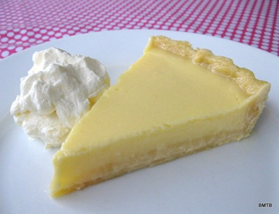lemon tart with short crust pastry