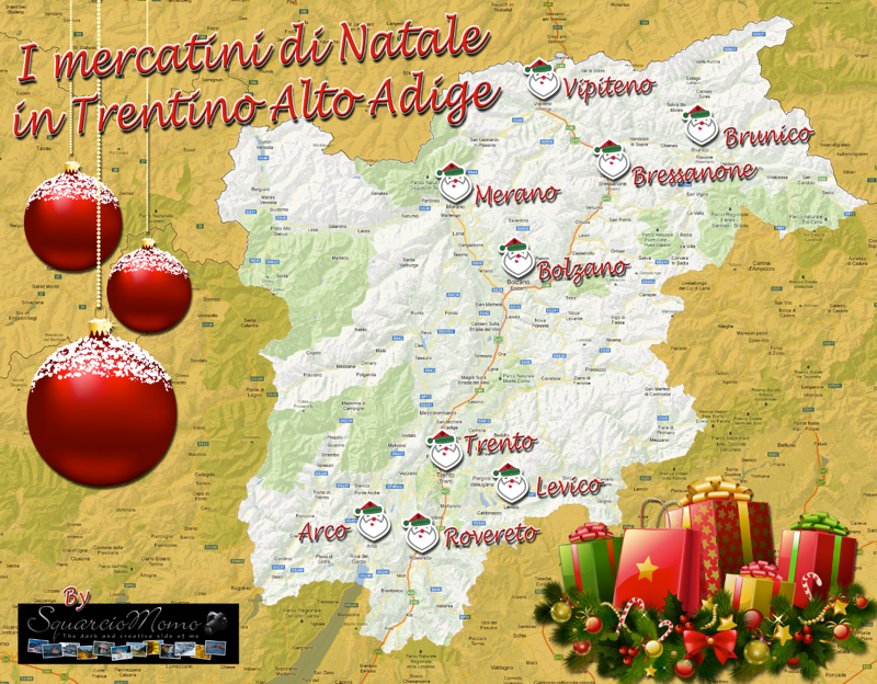 Mercatini Natale Trentino Alto Adige mappa