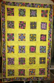 1303063 Mar 18 Finished Four Point Posie Quilt