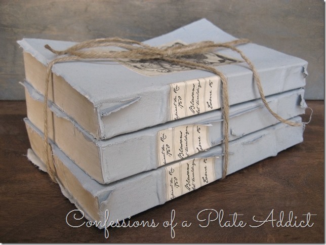CONFESSIONS OF A PLATE ADDICT Restoration Hardware Inspired Vintage Book Bundle