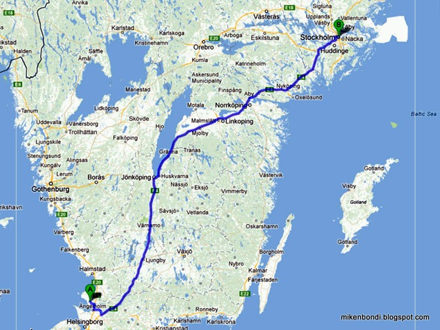 6 hours to Stockholm