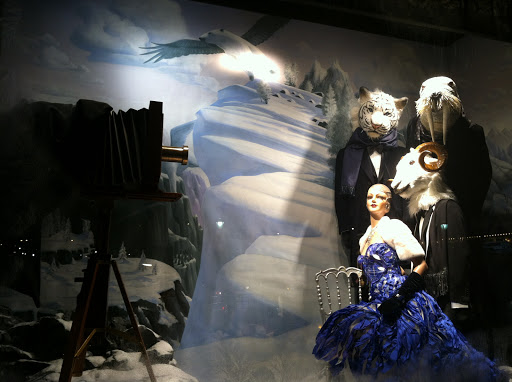 Even the less ornate windows at Bergdorf's were unique and beautiful. Here, animals are dressed in dapper tuxes.