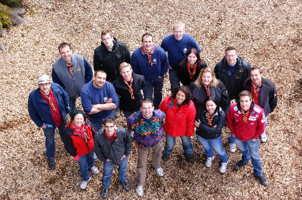 Gruppenfoto im Hochseilpark