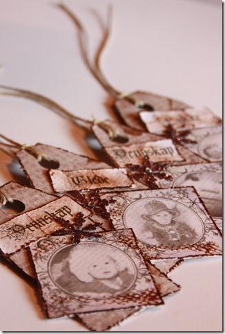 håndlagede merkelapper jul julegaver diy vintage IMG_5510