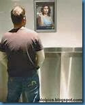 peeing man