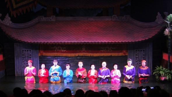 Teatro de marionetes na água, em Hanói