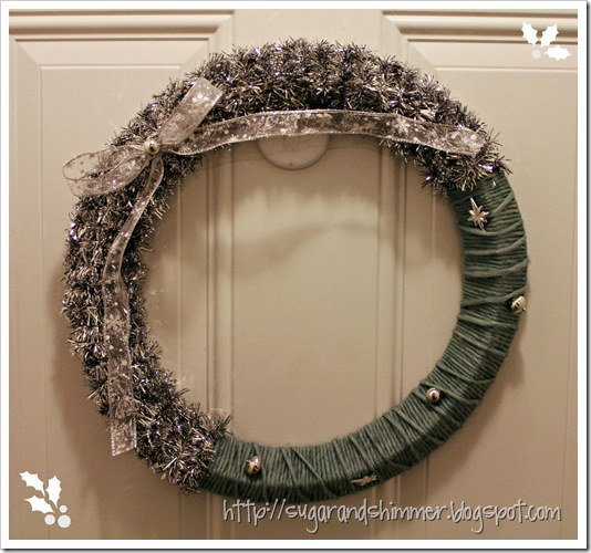 Tinsel & Yarn Wreath