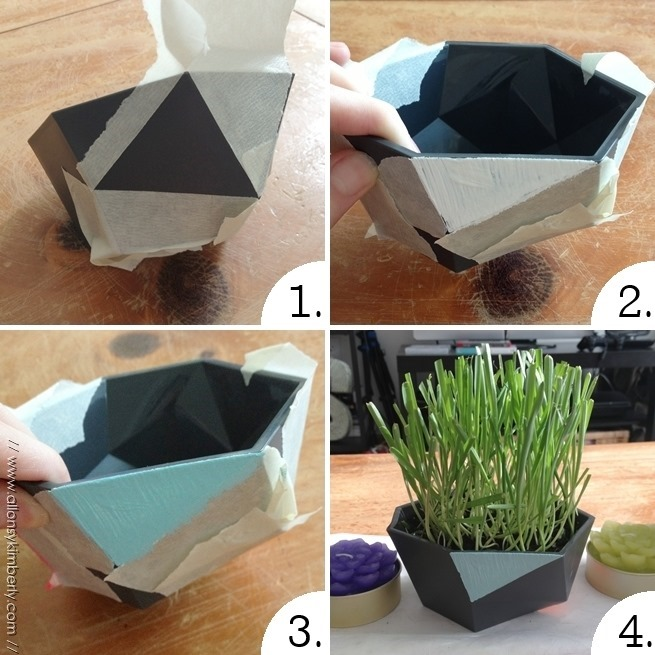 DIY: Geometric Cat Grass Bowls | allonsykimberly.com