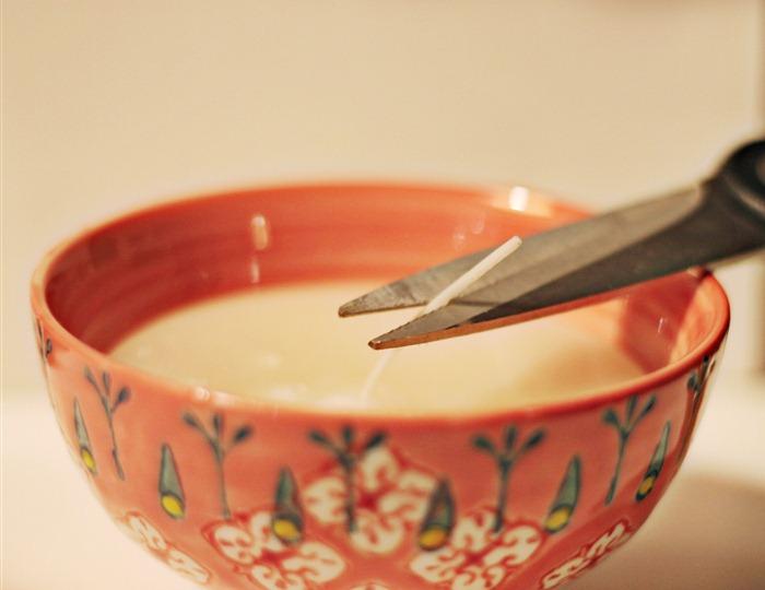 cut candle