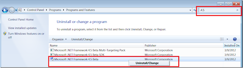 Uninstall .Net 4.5