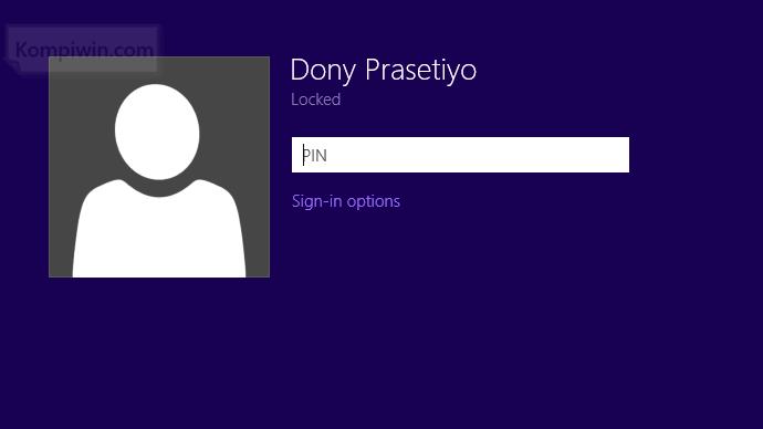 cara melindungi password dengan membuat nomor pin saat booting signin 006