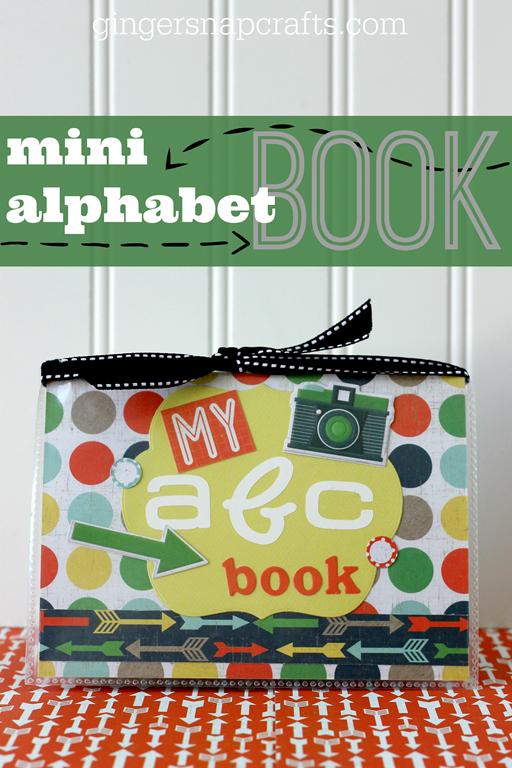 Mini Alphabet Book at GingerSnapCrafts.com #wermemorykeepers #lifestylestudios #papercraft #tutorial