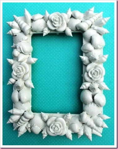 seashell picture frame