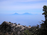 Merapi and Merbabu from Lawu summit (Daniel Quinn, June 2009)