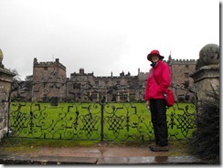 goat muncaster castle view and me
