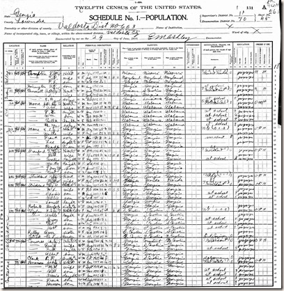 1900 census Mattie Roberts