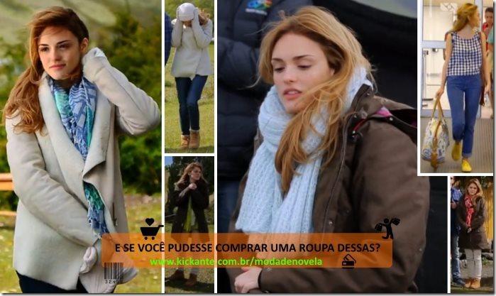 moda da novela sete vidas - julia looks
