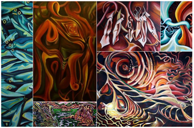 abstract paintings surreal