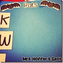 I also love me some Anchor Charts. This one we will start Monday on what we know about Bats.