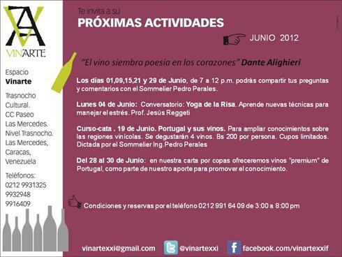 Próximas Actividades Junio 2012