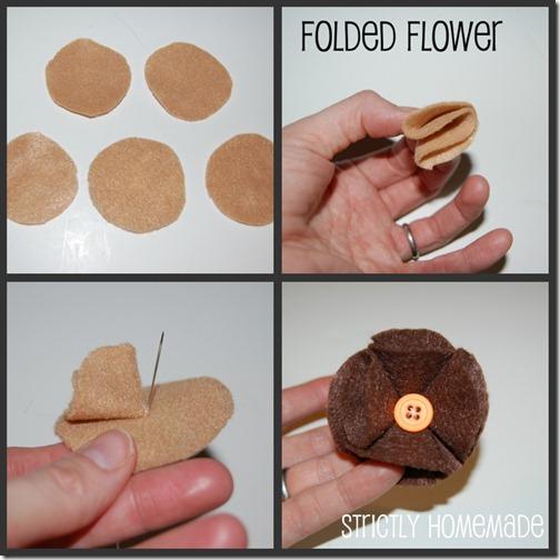 Folded Flower collage