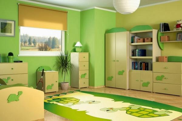 habitacion-para-niño-verde