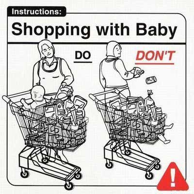 Baby Instructions: Shopping with Baby