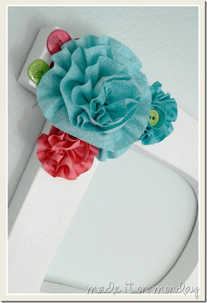 Button Letter Flowers