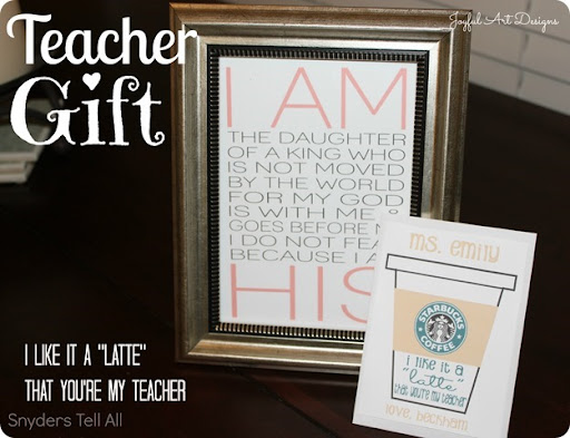 Teacher (or anyone) Gift and How to Dress Up a Gift Card ...