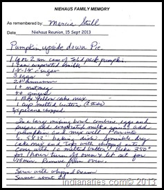Pumpkin Upside Down Pie recipe