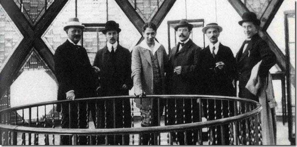 Paul Scheerbart in the Glas Pavilion 1914