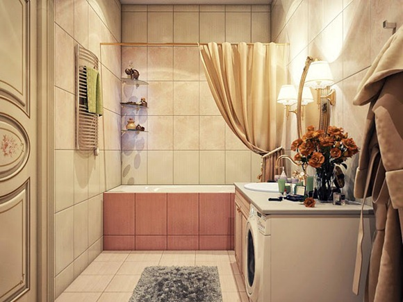 baños que combinan lo vintage con lo moderno
